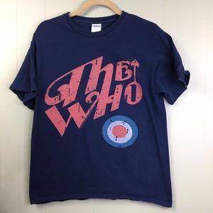The Who Band Tee Shirt Navy/ Orange 2010 Sz M